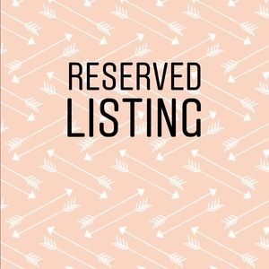 Other - Reserved listing for @uniqueb0utiqe